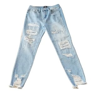 Simple Society High Rise Skinny Ankle Jean's